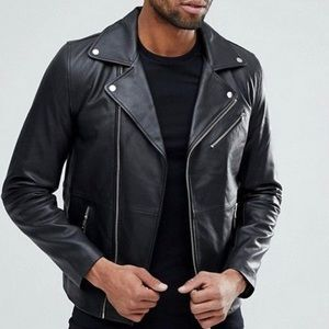 ASOS Leather Moto Jacket